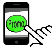 Promo Button Displays Discount Reduction Or Save — Stock Photo