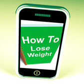 How to Lose Weight on Phone Shows Strategy for Weight loss — Stockfoto