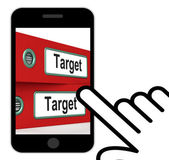 Target Folders Displays Business Goals And Objectives — Foto de Stock