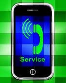 Service  On Phone Displays Call For Help — Stock Photo