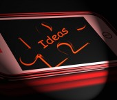 Ideas Smartphone Displays Inspiration Thoughts And Concepts — Stock Photo