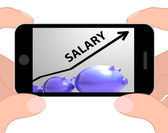 Salary Arrow Displays Pay Rise For Workers — Stock Photo