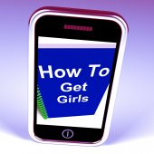 How to Get Girls on Phone Represents Getting Girlfriends — Stock Photo