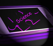 Science Smartphone Displays Biology Chemistry And Physics — Stock Photo
