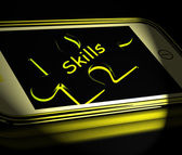 Skills Smartphone Displays Knowledge Abilities And Competency — Foto Stock