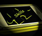 Skills Smartphone Displays Knowledge Abilities And Competency — Stock Photo