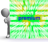 Premium Word Cloud Sign Shows Best Bonus Premiums — Stock Photo