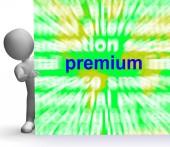 Premium Word Cloud Sign Shows Best Bonus Premiums — Stock Photo