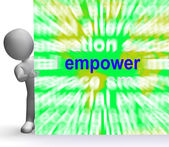Empower Word Cloud Sign Means Encourage Empowerment — Stock Photo