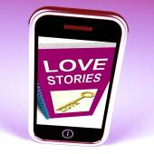 Love Stories Phone Gives Tales of Romantic and loving Feelings — Stock Photo