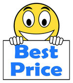 Best Price On Sign Shows Promotion Offer Or Discount — Stock Photo