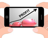 Profit Arrow Displays Sales And Earnings Projection — Stock Photo