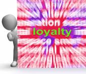 Loyalty Word Cloud Sign Shows Customer Trust Allegiance And Devo — Photo
