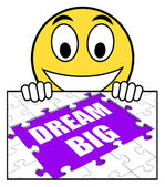 Dream Big Sign Means Ambitious Hopes And Goals — Stock Photo