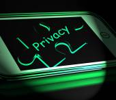 Privacy Smartphone Displays Protecting Confidential  Documents A — Stock Photo