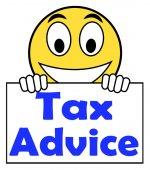 Tax Advice On Sign Shows Taxation Irs Help — Stock Photo