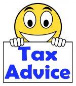 Tax Advice On Sign Shows Taxation Irs Help — Zdjęcie stockowe