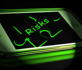 Risks Smartphone Displays Unpredictable And Risky Investment — Stock Photo