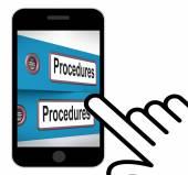 Procedures Folders Displays Correct Process And Best Practice — Stock Photo