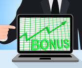 Bonus Chart Graph Displays Increase Reward Or Perk — Stockfoto