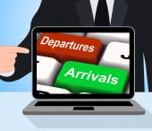Departures Arrivals Keys Displays Travel And Vacation — Stock Photo