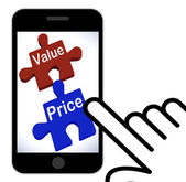 Value Price Puzzle Displays Worth And Cost Of Product — Stock Photo