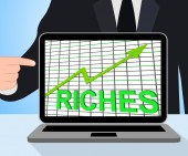 Riches Chart Graph Displays Increase Cash Wealth Revenue — Stock Photo