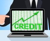 Credit Graph Chart Displays Buy Increase Grow Debt — Stock Photo