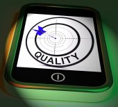 Quality Smartphone Displays Excellent Goods And Customer Satisfa — Stock Photo