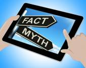Fact Myth Tablet Means Correct Or Incorrect Information — Stock Photo