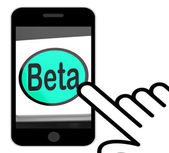Beta Button Displays Development Or Demo Version — Stock Photo