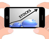 Stocks Arrow Displays Increase In Worth For Stockholders — Stock Photo