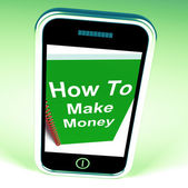 How to Make Money on Phone Represents Getting Wealthy — Stock Photo