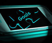 Goals Smartphone Displays Aims Objectives And Targets — Foto de Stock