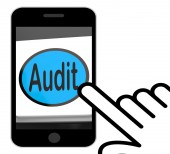 Audit Button Displays Auditor Validation Or Inspection — Stockfoto
