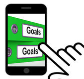Goals Folders Displays Direction Aspirations And Targets — Stock Photo