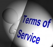 Terms Of Service Sign Displays User And Provider Agreement — Stock Photo