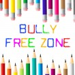 Bully Free Zone Indicates Bullying Children And Cyberbully — Stock Photo #53358071
