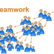Team Effort Means Unit Teamwork And Unity — Stock Photo #53358147