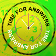 Time For Answers Represents Knowhow Assist And Help — Stock Photo #53358643