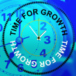 Time For Growth Shows Gain Development And Growing — Stock Photo #53359031