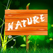 Natural Nature Means Rural Green And Genuine — Stock Photo #53359271