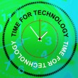 Time For Technology Represents Knowledge Bytes And Fact — Stock Photo #53359611