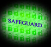 Safety Safeguard Indicates Privacy Secured And Secret — Stock Photo