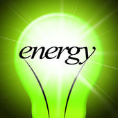 Energy Lightbulb Shows Earth Day And Eco-Friendly — Stock Photo