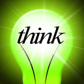 Think Idea Indicates Concept Inventions And Contemplating — Stock Photo