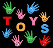 Toys Kids Indicates Buying Buy And Childhood — Stock Photo