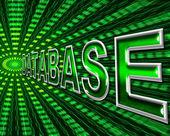 Databases Data Indicates High Tech And Bytes — Stock Photo