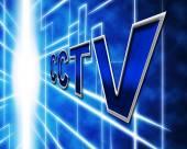 Surveillance Cctv Represents Security Camera And Prevention — ストック写真