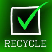 Tick Recycle Indicates Earth Friendly And Bio — Stock Photo